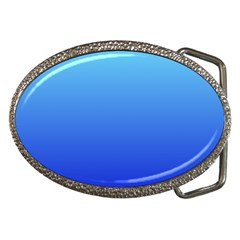 Electric Blue To Medium Blue Gradient Belt Buckle (oval)