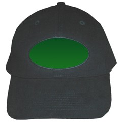 Dark Green To Green Gradient Black Baseball Cap