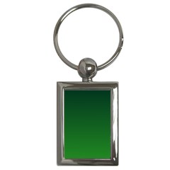Dark Green To Green Gradient Key Chain (rectangle) by BestCustomGiftsForYou