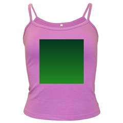 Dark Green To Green Gradient Spaghetti Top (colored) by BestCustomGiftsForYou