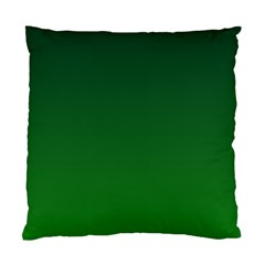 Dark Green To Green Gradient Cushion Case (two Sides) by BestCustomGiftsForYou