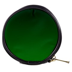 Dark Green To Green Gradient Mini Makeup Case by BestCustomGiftsForYou