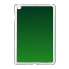 Dark Green To Green Gradient Apple Ipad Mini Case (white) by BestCustomGiftsForYou