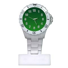 Dark Green To Green Gradient Nurses Watch by BestCustomGiftsForYou