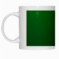 Green To Dark Green Gradient White Coffee Mug by BestCustomGiftsForYou