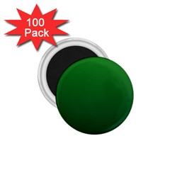 Green To Dark Green Gradient 1 75  Button Magnet (100 Pack) by BestCustomGiftsForYou