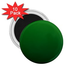 Green To Dark Green Gradient 2 25  Button Magnet (10 Pack) by BestCustomGiftsForYou