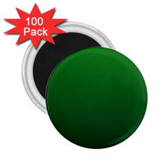 Green To Dark Green Gradient 2 25  Button Magnet (100 Pack) by BestCustomGiftsForYou