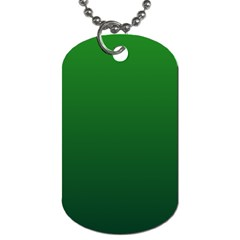 Green To Dark Green Gradient Dog Tag (two Sided)  by BestCustomGiftsForYou