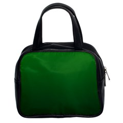 Green To Dark Green Gradient Classic Handbag (two Sides) by BestCustomGiftsForYou