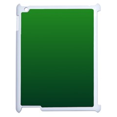 Green To Dark Green Gradient Apple Ipad 2 Case (white) by BestCustomGiftsForYou