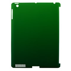 Green To Dark Green Gradient Apple Ipad 3/4 Hardshell Case (compatible With Smart Cover) by BestCustomGiftsForYou