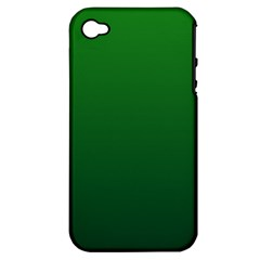 Green To Dark Green Gradient Apple iPhone 4/4S Hardshell Case (PC+Silicone)