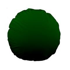 Green To Dark Green Gradient 15  Premium Round Cushion  by BestCustomGiftsForYou