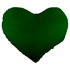 Green To Dark Green Gradient 19  Premium Heart Shape Cushion by BestCustomGiftsForYou