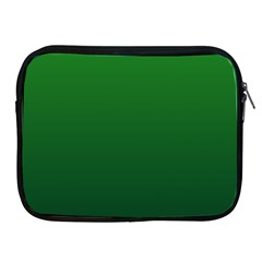 Green To Dark Green Gradient Apple Ipad 2/3/4 Zipper Case by BestCustomGiftsForYou