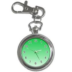 Dark Pastel Green To Pastel Green Gradient Key Chain & Watch by BestCustomGiftsForYou