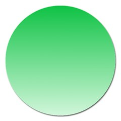 Dark Pastel Green To Pastel Green Gradient Magnet 5  (round) by BestCustomGiftsForYou