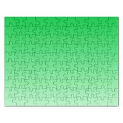 Dark Pastel Green To Pastel Green Gradient Jigsaw Puzzle (rectangle) by BestCustomGiftsForYou