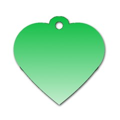 Dark Pastel Green To Pastel Green Gradient Dog Tag Heart (one Sided)  by BestCustomGiftsForYou