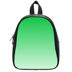 Dark Pastel Green To Pastel Green Gradient School Bag (small)