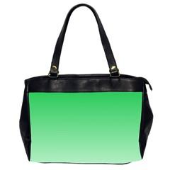 Dark Pastel Green To Pastel Green Gradient Oversize Office Handbag (two Sides) by BestCustomGiftsForYou