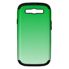 Dark Pastel Green To Pastel Green Gradient Samsung Galaxy S Iii Hardshell Case (pc+silicone) by BestCustomGiftsForYou