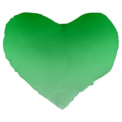 Dark Pastel Green To Pastel Green Gradient 19  Premium Heart Shape Cushion by BestCustomGiftsForYou