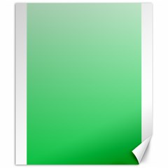 Pastel Green To Dark Pastel Green Gradient Canvas 20  X 24  (unframed) by BestCustomGiftsForYou