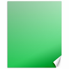 Pastel Green To Dark Pastel Green Gradient Canvas 11  x 14  (Unframed) by BestCustomGiftsForYou