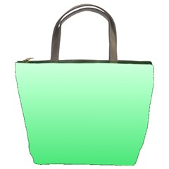 Pastel Green To Dark Pastel Green Gradient Bucket Bag by BestCustomGiftsForYou