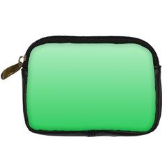 Pastel Green To Dark Pastel Green Gradient Digital Camera Leather Case by BestCustomGiftsForYou