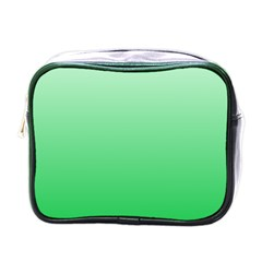 Pastel Green To Dark Pastel Green Gradient Mini Travel Toiletry Bag (one Side) by BestCustomGiftsForYou