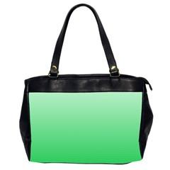 Pastel Green To Dark Pastel Green Gradient Oversize Office Handbag (two Sides) by BestCustomGiftsForYou