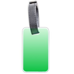 Pastel Green To Dark Pastel Green Gradient Luggage Tag (one Side) by BestCustomGiftsForYou