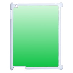Pastel Green To Dark Pastel Green Gradient Apple iPad 2 Case (White)