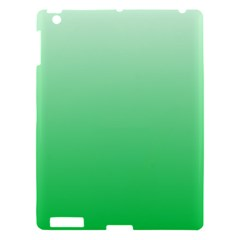 Pastel Green To Dark Pastel Green Gradient Apple Ipad 3/4 Hardshell Case by BestCustomGiftsForYou