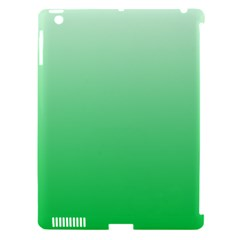 Pastel Green To Dark Pastel Green Gradient Apple Ipad 3/4 Hardshell Case (compatible With Smart Cover) by BestCustomGiftsForYou