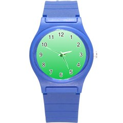 Pastel Green To Dark Pastel Green Gradient Plastic Sport Watch (small) by BestCustomGiftsForYou