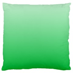 Pastel Green To Dark Pastel Green Gradient Large Cushion Case (one Side) by BestCustomGiftsForYou