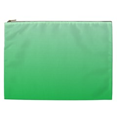 Pastel Green To Dark Pastel Green Gradient Cosmetic Bag (xxl)