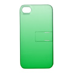 Pastel Green To Dark Pastel Green Gradient Apple Iphone 4/4s Hardshell Case With Stand by BestCustomGiftsForYou