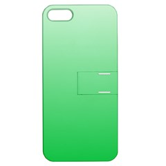 Pastel Green To Dark Pastel Green Gradient Apple Iphone 5 Hardshell Case With Stand by BestCustomGiftsForYou