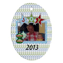 2013 Oval Double Sided Ornament 1 By Martha Meier   Oval Ornament (two Sides)   Rz5edpohmxj0   Www Artscow Com Front