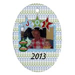 2013 Oval Double Sided Ornament 1 - Oval Ornament (Two Sides)