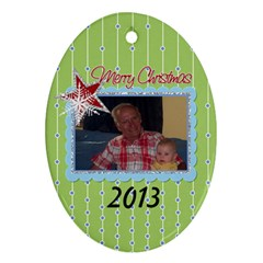 2013 Oval Double Sided Ornament 2 By Martha Meier   Oval Ornament (two Sides)   Vhif00z6j6hc   Www Artscow Com Front