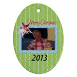 2013 Oval Double Sided Ornament 2 - Oval Ornament (Two Sides)