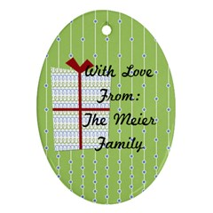 2013 Oval Double Sided Ornament 2 By Martha Meier Back