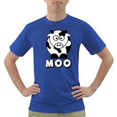 Cute Little Black And White Farm Milk Cow Moo Mens' T Shirt (colored)