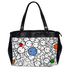 Smiley Oversize Office Handbag (two Sides) by Contest1713515